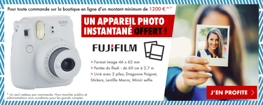 Un appareil photo Polaroid offert