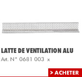 Latte de ventilation alu