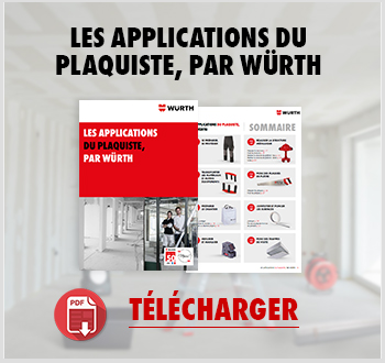 Téléchargez le catalogue des applications du plaquiste par Würth