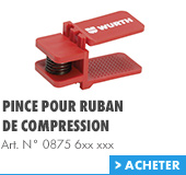 Pince pour ruban de compression