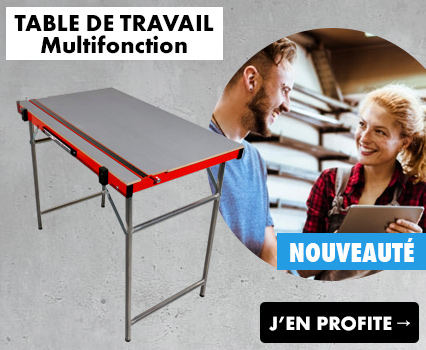 Nouvelle table de chantier